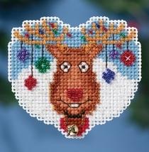 Reindeer Games Winter Series 2016 seasonal ornament kit cross stitch Mil... - $6.75