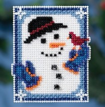 Invisible Snowman Winter Series 2016 seasonal ornament kit cross stitch - $6.75