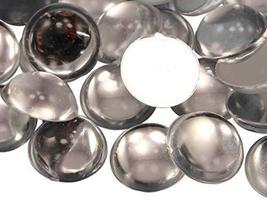 KraftGenius Allstarco 18mm Crystal Clear H102 Round Flat Back Acrylic Cabochons  - $5.65