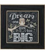 Dream Big Chalkboard Quartet 2016 cross stitch ... - $15.30