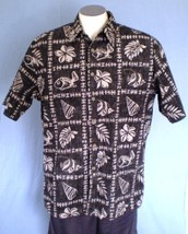 Cooke Street Large Button Front Reverse Print Hawaiian Shirt Fish Leaves... - $25.00