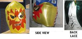 GOLD AND RED LUCHADORA WRESTLING MASK   - $24.00