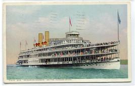 Steamer Hendrick Hudson River New York Phostint 1920 postcard - $5.89