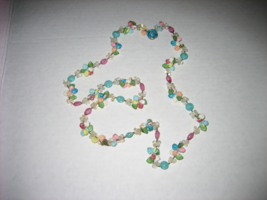VINTAGE West Germany Made Multi-colored Dual Strand Beaded Necklace - $89.00
