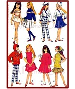 "Vintage Doll Clothing Pattern for 9 1/2"" Skipper ~ No. 3 - $7.99"