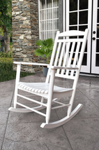 Maine Porch Rocker Chair Shine Company Hardwood Patio Deck 2 Colors - $146.95