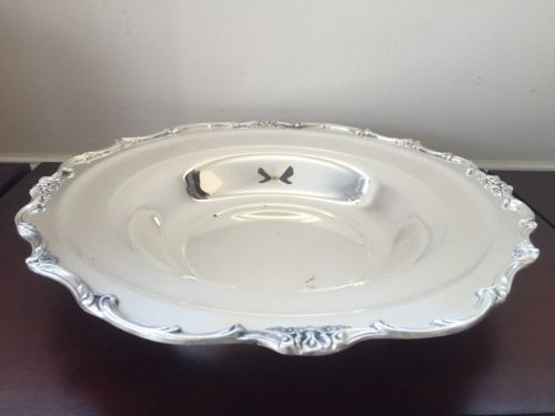 Wellington WM Rogers Silver Plated Serving Plate Platter Dish Bowl #1135 VTG
