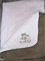 """Child Of Mine Carters Pink Dot Brown Bears Cuddly Sherpa Blanket 40X30"""" - $39.28"""