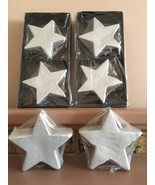 Star shaped candles~very light grey color~Lot of 6 - $17.81