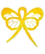 Breast Feeding Lapel Pin Gold Ribbon Butterfly ... - $10.97