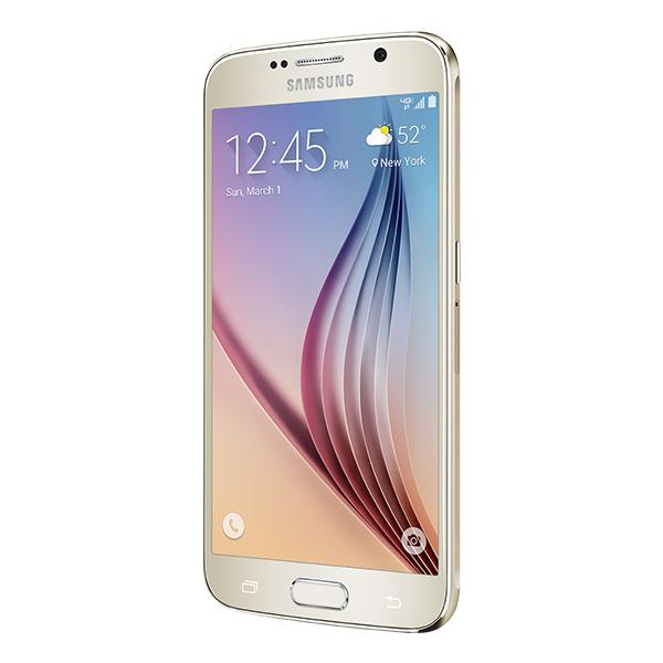 "Straight Talk Samsung Galaxy S6 ""Platinum Gold"" 32GB runs ..."