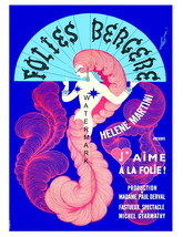 Folies Bergere 13 x 10 inch Helene Martini Vintage Advert Giclee Canvas ... - $19.95