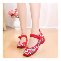 Chinese Embroidered Floral Shoes Women embroidery Ballet dancing shoes Cotton107 - $20.99