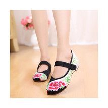 Chinese Embroidered Floral Shoes Women embroidery Ballet dancing shoes Cotton112 - $20.99