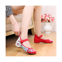 Chinese Embroidered Floral Shoes Women embroidery Ballet dancing shoes Cotton113 - $20.99