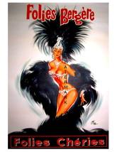 Folies Bergere 13 x 10 inch Folies Cheries Vintage Advert Giclee Canvas ... - $19.95