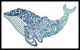 Whale Silhouette cross stitch chart Artecy Cross Stitch Chart - $14.40