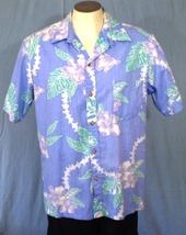 Cooke Street Large Button Front Reverse Print Hawaiian Shirt Hibiscus Le... - $25.00