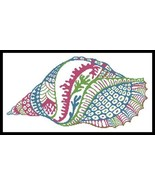 Abstract Shell Design cross stitch chart Artecy Cross Stitch Chart - $14.40