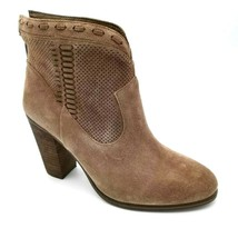 Vince Camuto Womens Fretzia Ankle Boots Brown Leather Block Heels Zipper... - $32.64