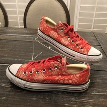 Converse All Star OX 547325F Pink Bandana Print Chuck T Canvas Sneakers ... - $44.55