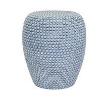 Elegant Soft Denin Blue Hobnail Ceramic Garden Stool,13.5''d x 17.5''h. - $163.35