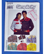 Simplicity 9689 Unisex Decorated Western Shirt Pattern - CUT 38-40 - $5.00