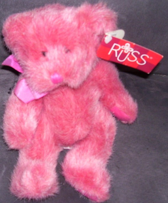 RUSS Memories of Love LUV'UMS Pink Plush Bear w/TAG RARE