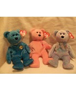 Ty Beanie Baby set of 3 Bears Mum Classy Issy Great Condition - $6.99