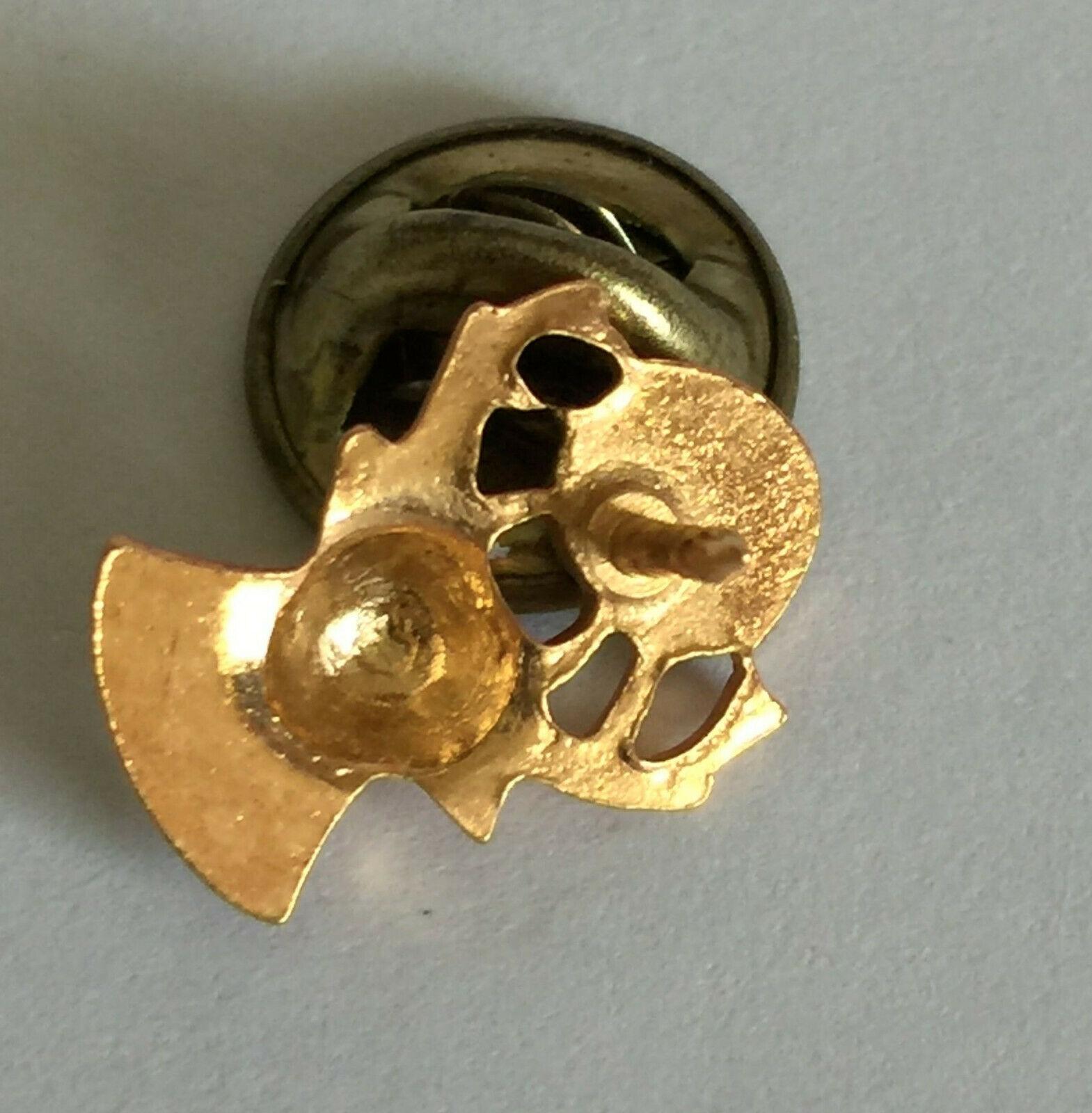 BPOE Lapel Button Pin Gold Tone-Red Eyes & Elks Clock Pin Back Pinback image 3
