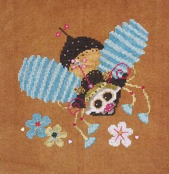 Steam Punk Bumble Bee cross stitch chart SamSarah Designs