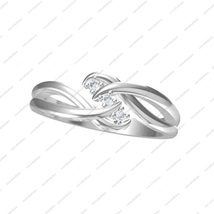 925 Sterling Silver Round Cut White Cubic Zirconia Three Stone Promise Ring  - £28.86 GBP