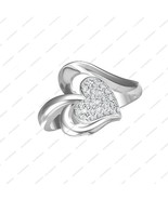 925 Sterling Silver Round Cut White CZ Angelic Heart Ring in All Size 5 ... - £12.20 GBP