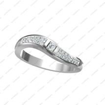 White Gold Plated 925 Sterling Silver CZ Round Cut Fancy Women's Band Ring SZ 5  - £28.74 GBP