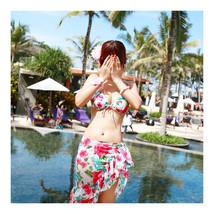 SPA Swimsuit Swimwear Bathing Suit Bikini 3pcs Multiple Wears  white  M - $26.99