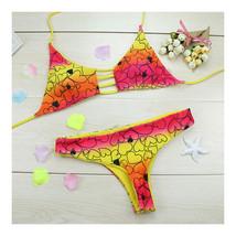 Swimwear Swimsuit Bathing Suit Vintage Printing Bikini  S - $16.99