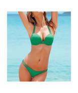 Push-Ups Swimwear Swimsuit Bathing Suit Bikini  green  S - $15.99