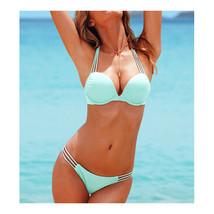 Push-Ups Swimwear Swimsuit Bathing Suit Bikini  light blue  S - $15.99