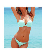 Push-Ups Swimwear Swimsuit Bathing Suit Bikini  light blue  S - $15.99