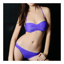 Women Swimwear Swimsuit Bikini Bathing Suit  purple  S - $15.99