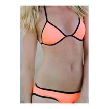 European Swimwear Swimsuit Triangle Bikini  orange  S - $15.99