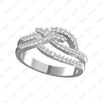 White Gold Plated 925 Sterling Silver Round CZ Beautiful Promise Wedding Ring  - $78.99