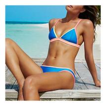 Assorted Colors Triangle Bikini Tie Women Swimwear Swimsuit Sexy  blue  S - $15.99