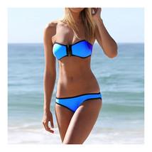 Swimwear Bikini Triangle Push-Ups Women  dark blue  S - $15.99