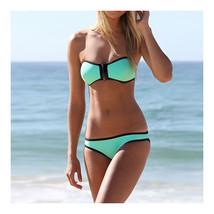 Swimwear Bikini Triangle Push-Ups Women  lake green  S - $15.99