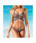Leopard Print Swimsuit Swimwear Sexy Triangle Bikini Push-Ups SPA  S - $18.99