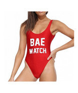 Bikini Set Letters Printing Womens Swimwear Swimsuit   red BAE  S - $15.99