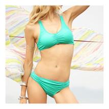 Fashionable Sexy Crochet Triangle Bikini Set Women's Swimwear Swimsuit  green  S - $17.99