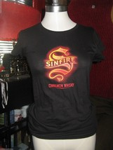 Sinfire Cinnamon Whiskey An Evil Spirit promo ladies t-shirt M - $13.99