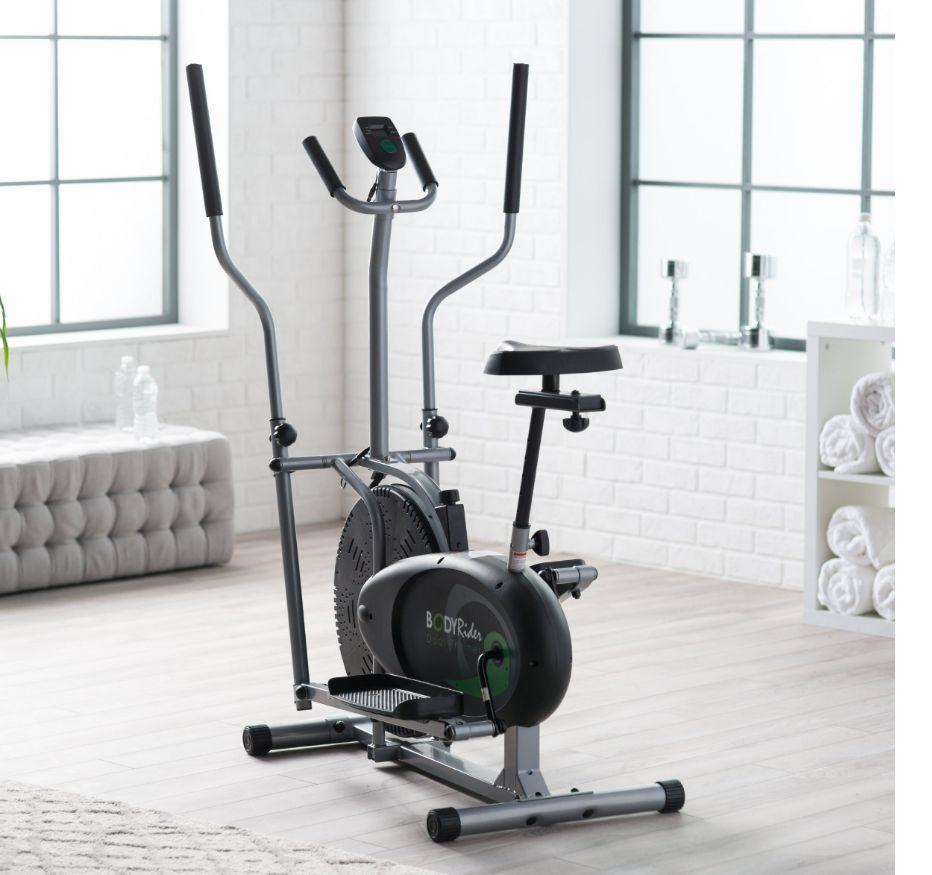 Elliptical Cardio Fitness Tone Weight Loss Bike Equipment Home Gym Full Body New